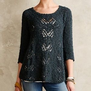 Knitted and Knotted Sylt Pointelle Sweater Top